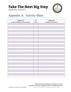 Appendix A Activity Sheet